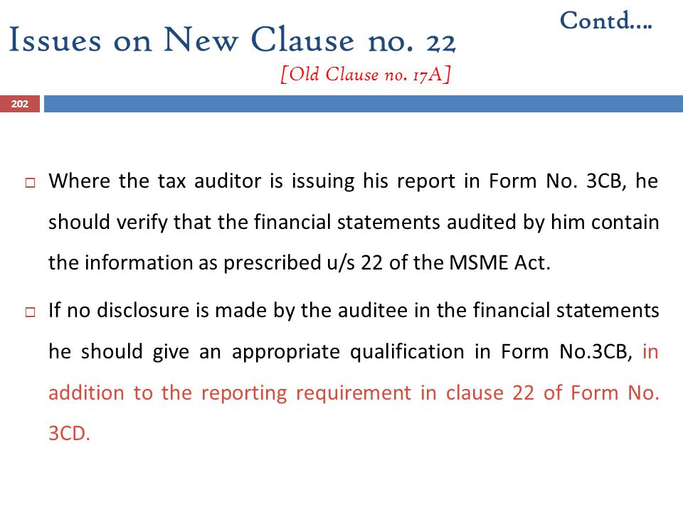Issues on New Clause no. 22 [Old Clause no. 17A]